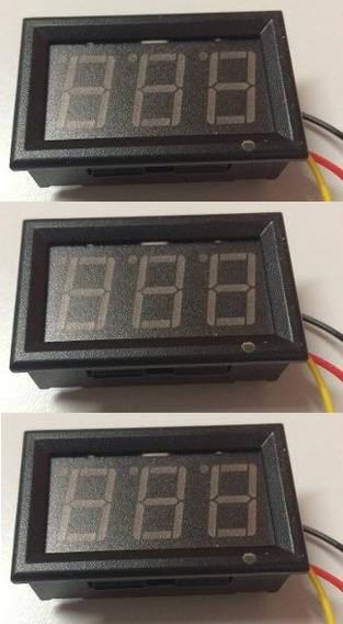 Kit 3 Displays Vermelho Digital Painel - 3 V~30 V - 0~100 V