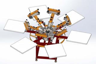 Kit Planos Construye Maquina Pulpo De Meza Para Serigrafía