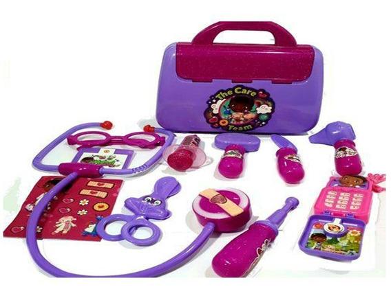 Maleta Doutora Brinquedos C/ Acessórios 11 Peças Kit Médica