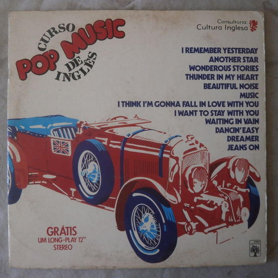 Lp Pop Music 1978 Curso De Inglês Vol.27, Partitura E Letras