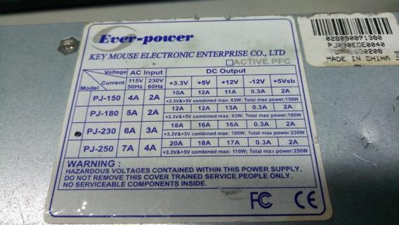 Fonte Atx 24 Pinos + Sata Eve-power Pj-230 230w