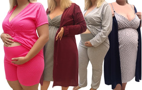 Kit Camisolas E Pijamas Plus Size Gestante 017-2626-022-n026