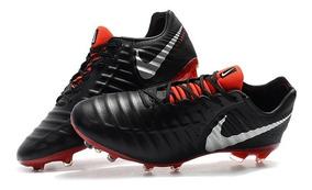 Chuteira Nike Tiempo Legend 7 Black Red Profissional Acc: