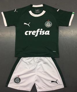 Kit Infantil Criança Camisa Palmeiras Puma 2019 2020
