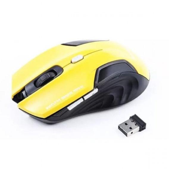 Mouse Gamer Sem Fio Amarelo 2.4ghz Plugx - E1500