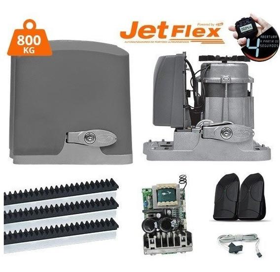 Kit Motor Portão Eletrônico Ppa Dz Rio 1/2 Jet Flex Rápido