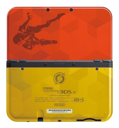 Nintendo New 3DS XL Samus Edition vermelho e dourado