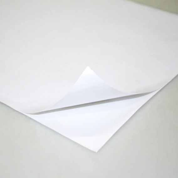 50 Fls Adesivo Vinil Glossy Branco Brilhante A4 Laser
