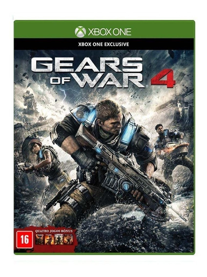 Gears Of War 4 Xbox One Novo + 4 Jogos Lacrado Mídia Física