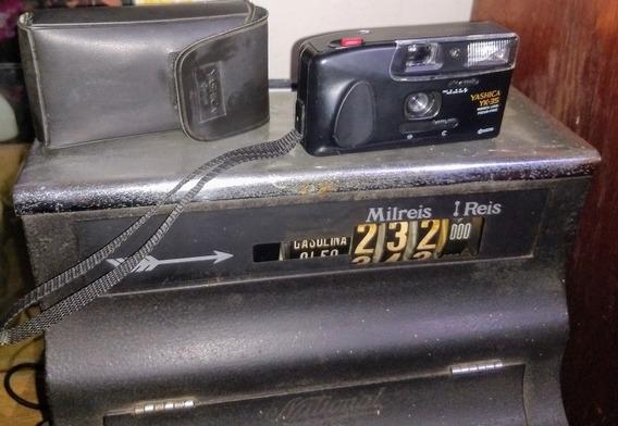 Câmera Antiga Yashica Yk-35 Funcionando C/ Alça E Capinha