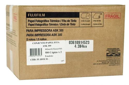 Conjunto Papel Fita Ask-300 10x15 800 Copias
