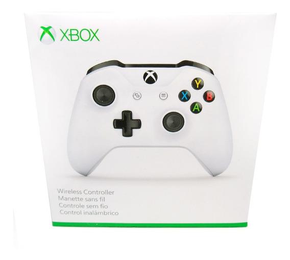 Controle Para Xbox One Sem Fio Branco Promoção + Brinde