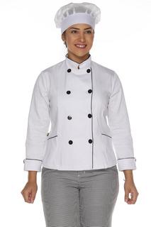Dolmã Chef Feminino Duplo Abotoamento