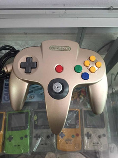 Control Nintendo 64 Dorado Gold Smash Bros Mario Kart N64