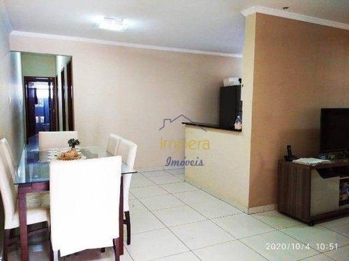 Casa Com 3 Dormitórios À Venda, 80 M² Por R$ 270.000,00 - Vila Das Flores - São José Dos Campos/sp - Ca0536