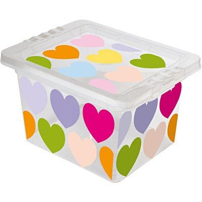 Caixa Organizadora Pequena 2,3l Coração Or18c Pt 1 Un