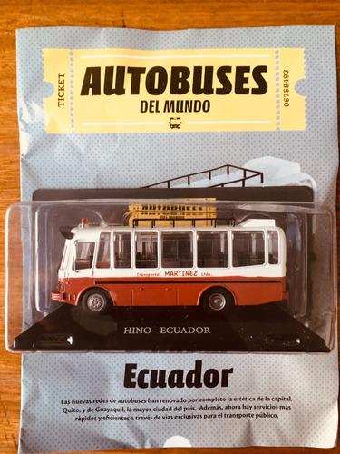 Autobuses Del Mundo - N°7 Hino - Ecuador - Nuevos