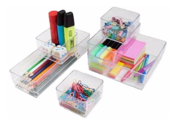 Set Kit Organizador Para Escritorio Acrilico Metaltru
