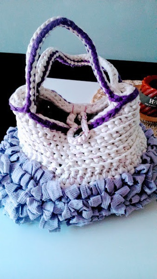 Cartera Bolso Totora Crochet Modelo Italia