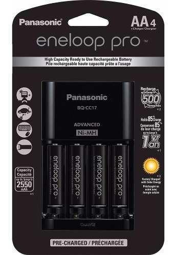 Panasonic Eneloop Pro : 4 Pilhas + Carregador ( 2550 Mah )