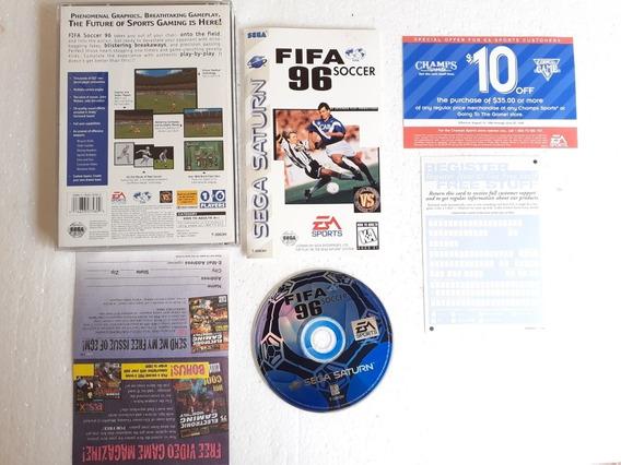 Fifa 96 Long Box Americano Cib Excelente Estado Sega Saturno