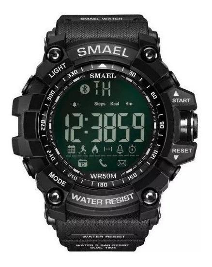Relógio Militar Smael 1617b Original Android Ios Bluetooth