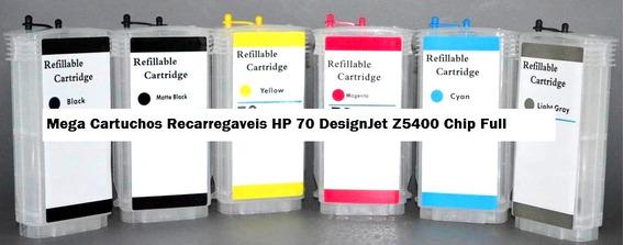 Cartucho Hp 70 6 Cores Recarregável Com Chip Full Promoção