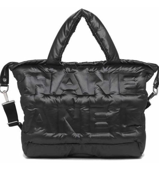 Bolsa Chanel Embossed Nylon Doudoune Bowling