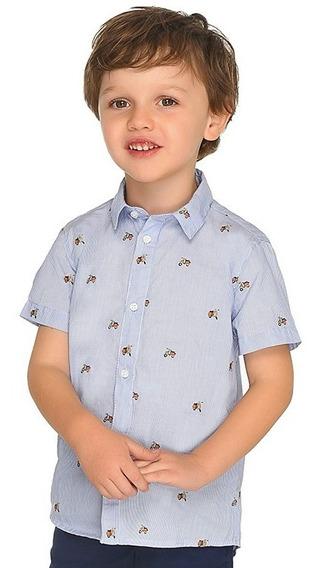 Camisa De Niño Ropa Mayoral Tallas 3 A 9 Manga Corta