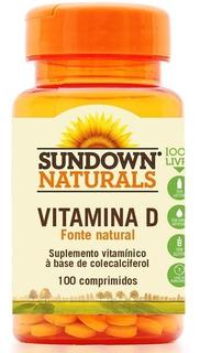 Vitamina D3 400ui C/ 100 Comprimidos Sundown Vitamins