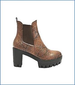 Oferta Nuevos Zapatos Botines Mujer Cafe Taco Envio Gratis