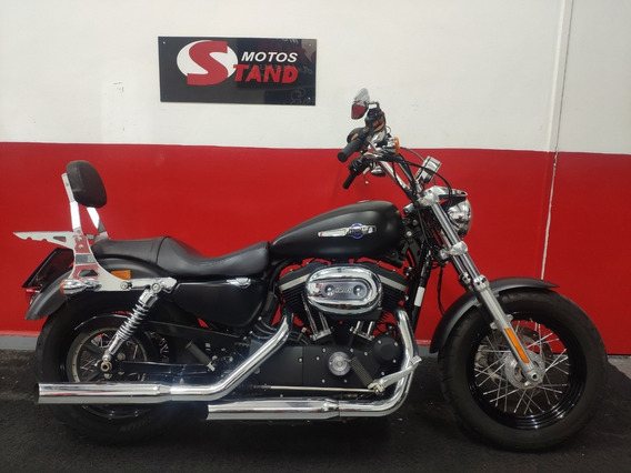 Harley Davidson Xl 1200 Custom Cb 2014 Preta Preto