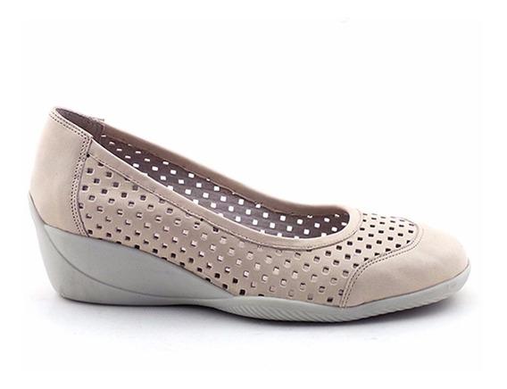 Zapato Mujer Cuero Briganti Goma Confort Taco - Mccz03138
