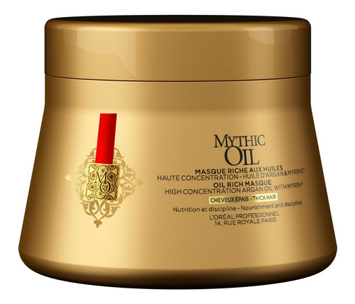 Máscarilla Cabello Grueso L'oreal Mythic Oil Masque 200ml