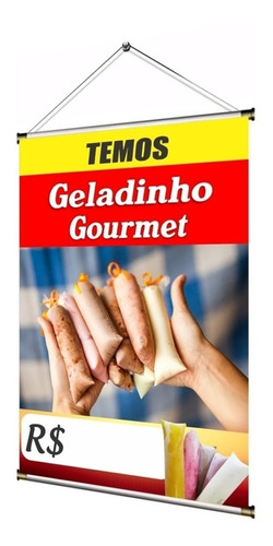 Banner Temos Geladinho Gourmet