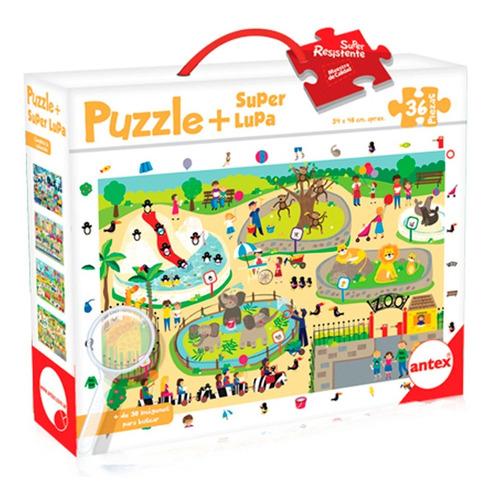 Imagen 1 de 3 de Puzzle 36 Piezas Grandes + Lupa - Rompecabezas Niños