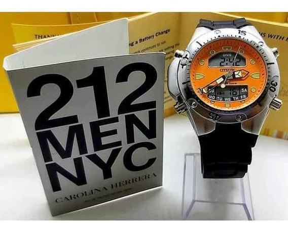 Relógio Citizen Aqualand + Perfume 212