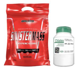 Sinister Mass 3kg Integral Médica + Dilatex 152 Cáps