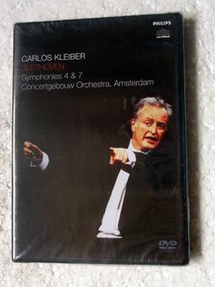 Dvd Carlos Kleiber Beethoven Symphonies 4 & 7 Novo Lacrado!!