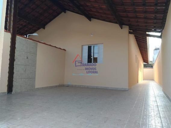 Casa Lado Praia Em Mongaguá Pé Na Areia. Financie Caix