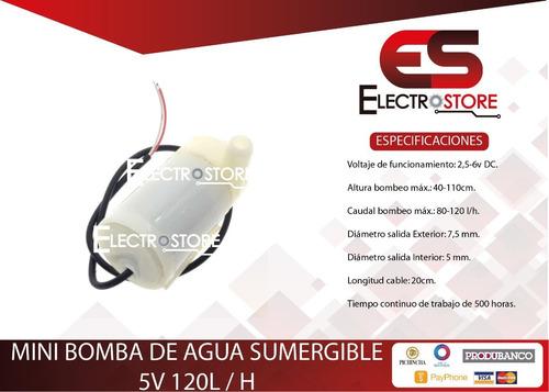 Bomba Agua Sumergible 5v Arduino Gel Dispensador Alcohol Gel