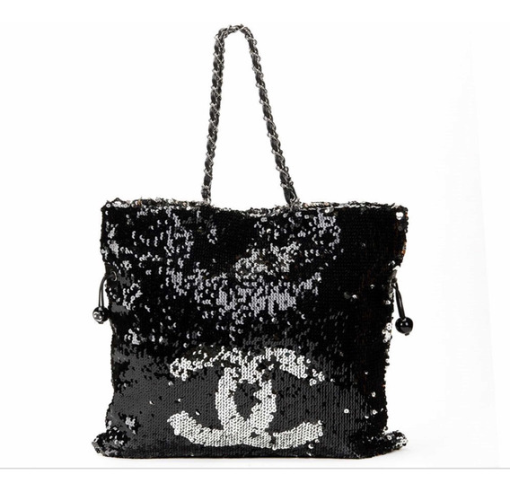 Bolsa Chanel Drawstring Summer Night (lantejoulas / Paetês)