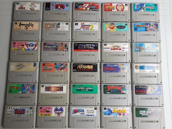 30 Jogos Originais Super Nes Japones Cada Jogo 29$ Lote 650$