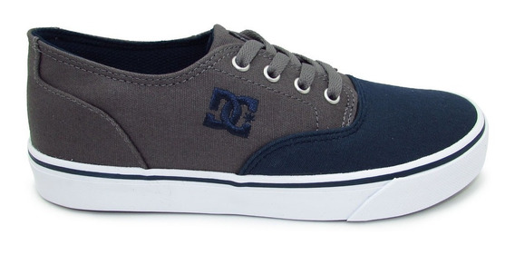 Tenis Dc Shoes Flash 2 Tx Mx Adys300417 Gbf Grey Blue Gris A