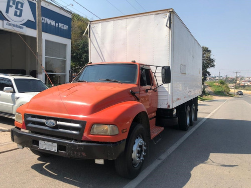 Ford F 14000 6x2 Reduzido Baú 7 Metros Fs Caminhoes