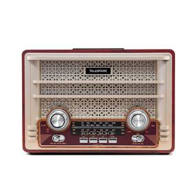 Rádio Retrô Vintage Bluetooth Usb Sd Card Bateria Plus