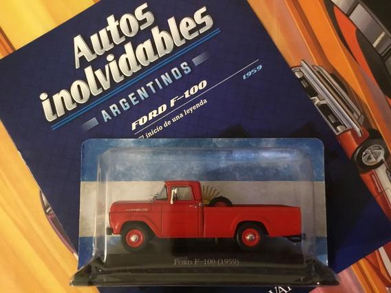 Ford F-100 1959 F100 Miniatura Replica Argentina 1/43