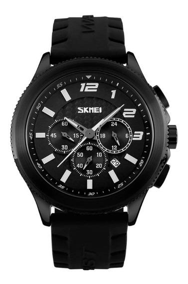 Relógio Masculino Skmei 9136 Analógico Preto - Promoção