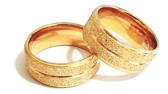 Unidade Aliança 8mm Casamento Noivado Cor Ouro Moedas + Anel