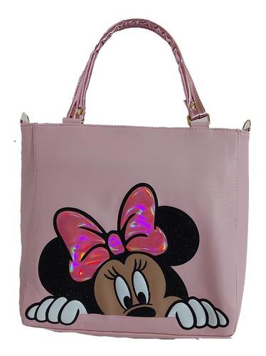 Imagen 1 de 5 de Hermosa Bolsa De Mano  De Minnie Mouse  En Color Rosa